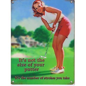 It'S Not The Size Of Your Putter It'S The Number... Fridge Magnet