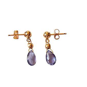 Gemshine Women ' s Iolithe øredobber drop Purple blå belagt 1,5 cm
