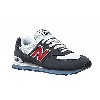 New balance sneakers genuine leather ML574 mens Navy