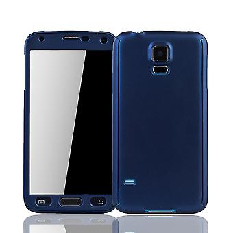 Samsung Galaxy S5 / S5 neo mobile-armored protection glass blue protective case cover sleeve