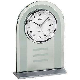 Atlanta 3123 stile orologio orologio al quarzo argento vetro con funzione di sveglia