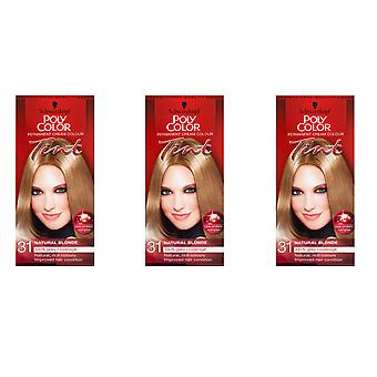 Schwarzkopf 3 X Poly Color Tint - Natural Blonde 31