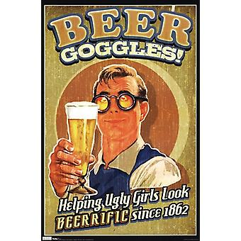 Beer Goggles Poster Print