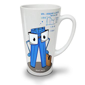 Geeky Smarty Pants NEW White Tea Coffee Ceramic Latte Mug 17 oz | Wellcoda