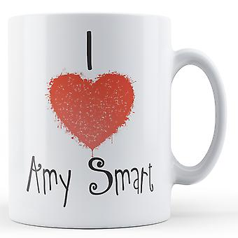 Decorative Writing I Love Amy Smart Printed Mug