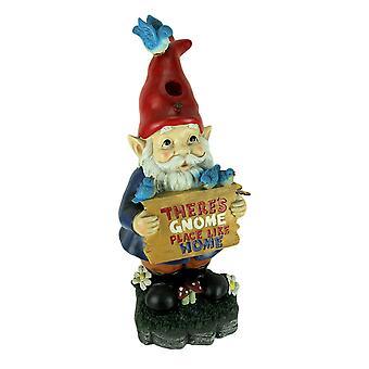 Gnome Place Like Home Garden Gnome Vogelhaus Statue