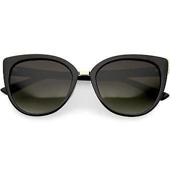Women's Cat Eye zonnebril metaal Trim gepolariseerde Lens 54mm