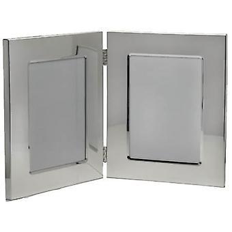 David Van Hagen dubbele Foto Frame 3.5x5 - zilver