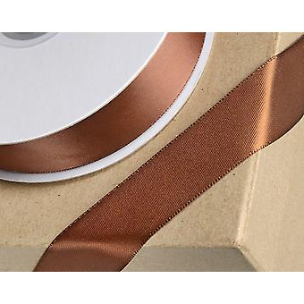 6mm Brown Satin Ribbon for Crafts - 25m | Ribbons & Bows for Crafts