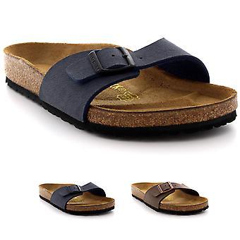 Sandalia de dedo del pie abierto unisex adultos Birkenstock Madrid Birko Flor Nubuck playa