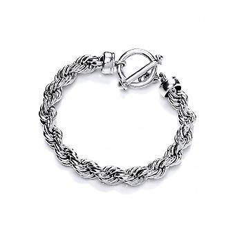 Cavendish fransk klassisk Sterling sølv reb armbånd