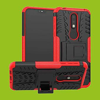 For Nokia 7.1 5.84 inches hybrid case 2 piece SWL outdoor red accessories bag case cover protection