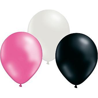 Ballonnen mix 24-pack roze/wit/zwart