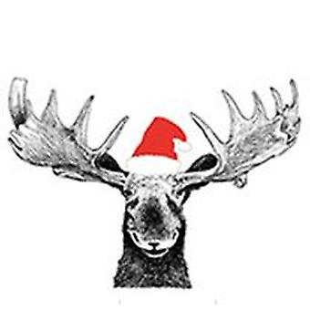 Napkins Moose with hood Christmas 2-pack (40 wipes)