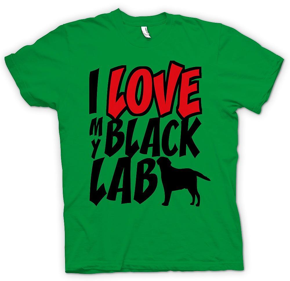 Mens T-shirt - I Love My Black Lab