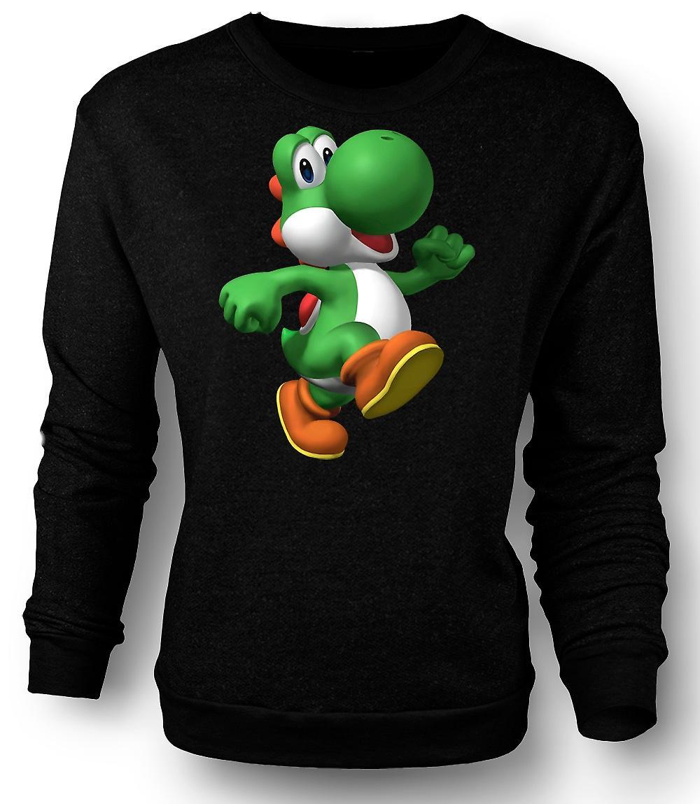 Mens Sweatshirt jeg elsker Yoshi - spiller