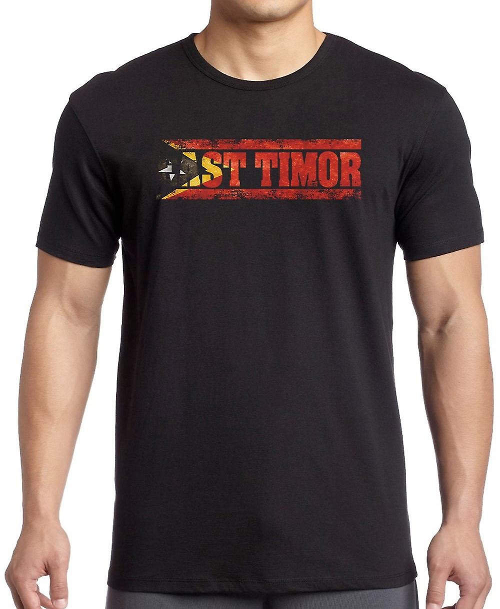 East Timor_ Flag - Words Kids T Shirt