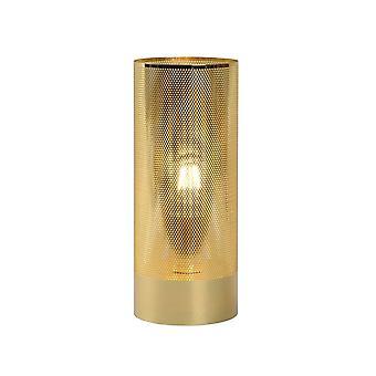Lucide Beli moderna Cylinder metall mässing bordslampa