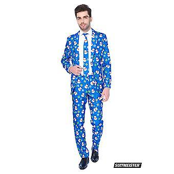Christmas blue snowman snowman suit Suitmeister slimline economy 3-piece set