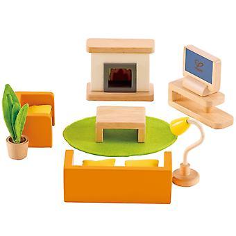 Jeu d'imitation enfant jeux jouets Salon média pour maison de poupée 0102103