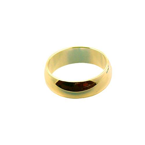9ct Gold 7mm plain D shaped Wedding Ring Size X