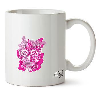 Hippowarehouse rosa socker skalle tryckt mugg kopp keramik 10oz