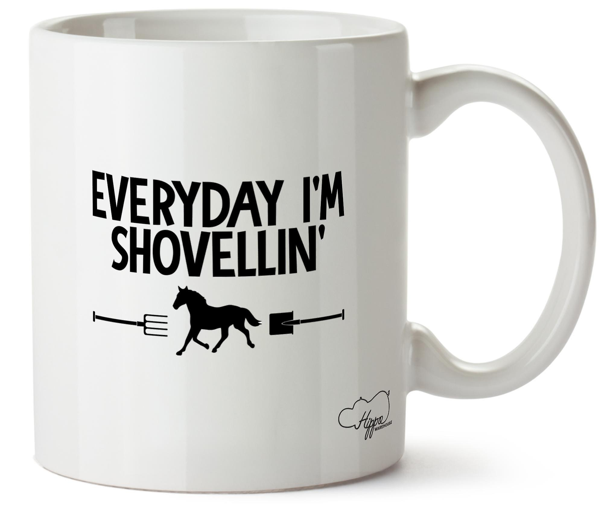 Suis Tasse Tous 10oz Les JoursQue Imprimé Je Hippowarehouse En Céramique Shovellin'equitation XiPOkZu
