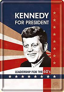 JFK for President metal postcard / mini-sign