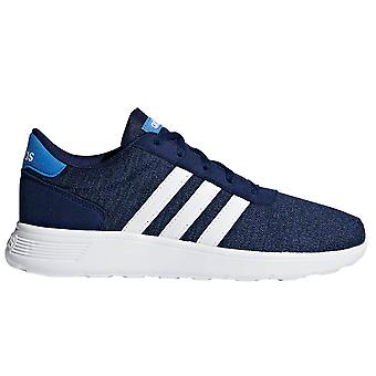 adidas Lite Racer Kids Boys Lace Up Sports Trainer Shoe Navy Blue
