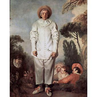 Pierrot, Jean-Antoine Watteau, 50x40cm