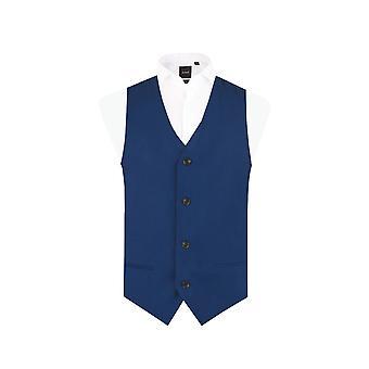 Dobell Boys Bright Blue Waistcoat Regular Fit