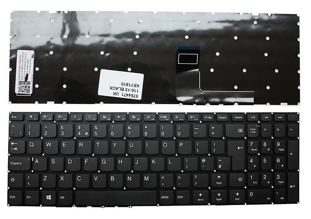 Clavier d'ordinateur portable Lenovo IdeaPad 110-15AST noir Windows 8 UK mise en remplaceHommest