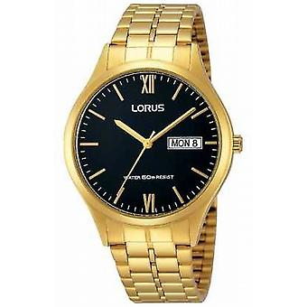 Lorus Mens Gold With Day And Date RXN06DX9 Watch