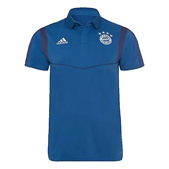 2019-2020 Bayern Munich Adidas Cotton Polo Shirt (Night Marine)