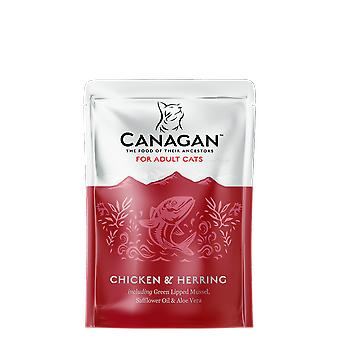 Canagan Chicken & Herring  Pouches 8 x 85g Cat Food