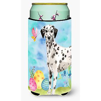 Dalmatian Easter Tall Boy Beverage Insulator Hugger