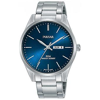 Pulsar | Mens Day/Date | Stainless Steel Bracelet | Blue Dial | PJ6109X1 Watch