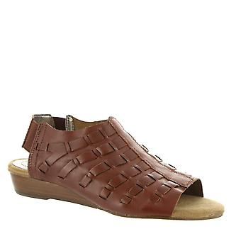 ARRAY Womens Freeport Leather Open Toe Casual Slingback Sandals
