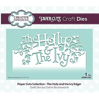 Creative Expressions Die The Holly and the Ivy Festive Wording Edgers | Paper Cuts Collection