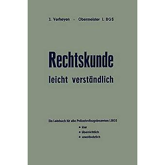 Rechtskunde leicht verstndlich por Verheyen & Josef
