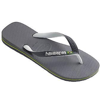 Womens Havaians Brazil Mix Beach Steel Grey Beach Rubber Flip Flops