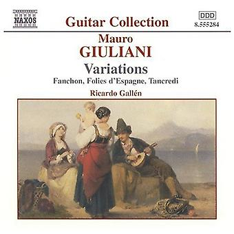 M. Giuliani - Mauro Giuliani: Variations [CD] USA import