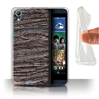 STUFF4 Gel/TPU Case/Cover for HTC Desire 626G+/Textured/Brown/Tree Bark