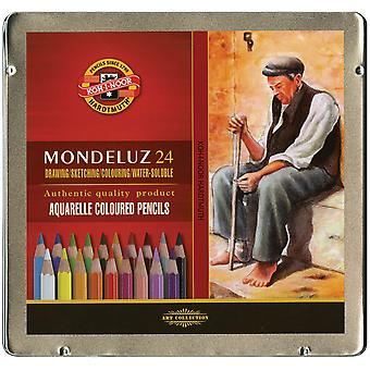 Mondeluz Aquarell Watercolor Pencils 24 Pkg Fa372424