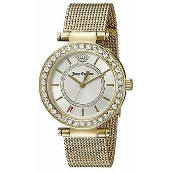 Juicy Couture Womens Gold Plated Strap White Dial 1901373 Watch