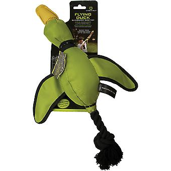 Hyper Pet Slingshot Flying Animal With Squeaker-Green Duck HP0023