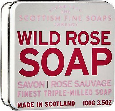 Scottish Fine Soaps Wild Rose Soap Tin