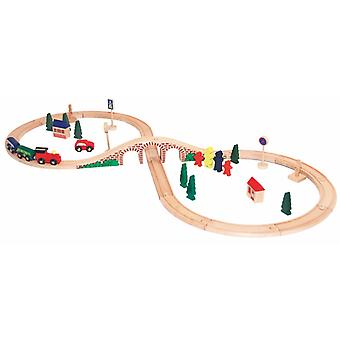 Woody Train Achterbahn 40 PCs 90814