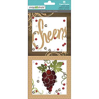 Papier huis Snap Shots Shaker versiering-Wine Country SHKR0004
