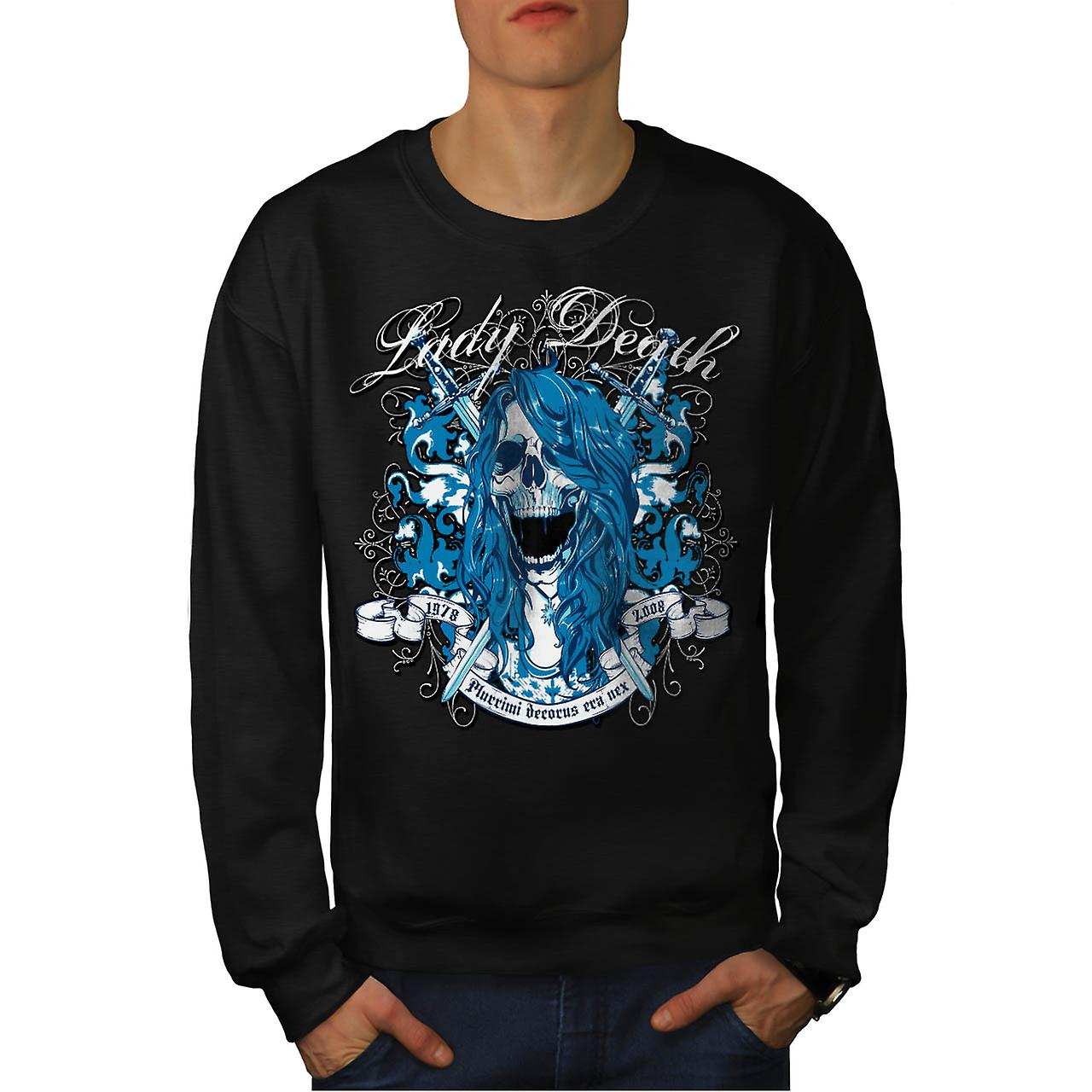 Lady død Monster Horror Ghost menn svart Sweatshirt | Wellcoda